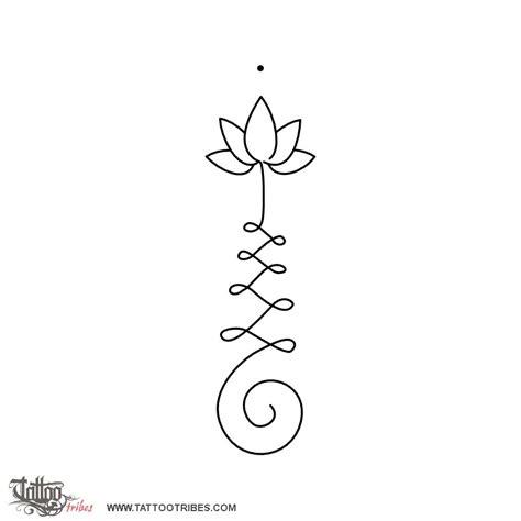 tattoo  unalome lotus enlightenment tattoo custom