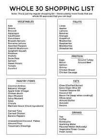 Whole 30 Shopping List Whole Foods