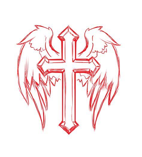 Croix Ailes Tatouage · Image Gratuite Sur Pixabay