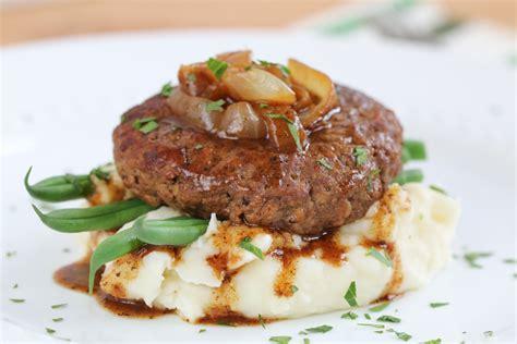 hamburger steak hamburger steak with onion gravy