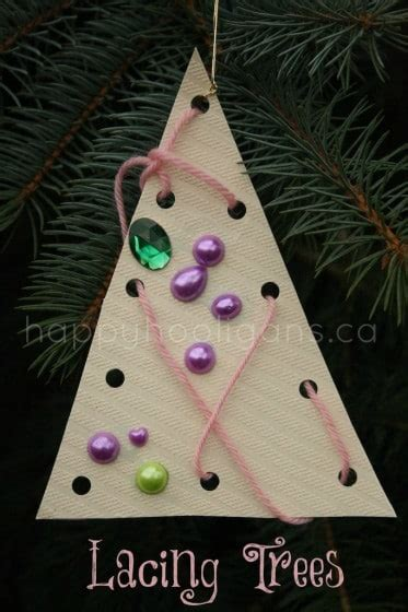 lacing tree ornaments  toddlers happy hooligans