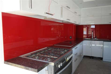 Black Glass Kitchen Cabinets by Red Splashbacks Perth Red Kitchen Splashbacks Red Glass