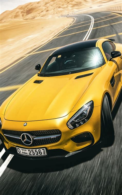 Gambar Mobil Mercedes Amg Gt by Yellow Mercedes Amg Gt S Free Hd Mobile