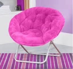 amazon com mainstays faux fur saucer chair pink