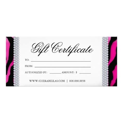 gift certificates tanning salon jewelry pink black pink