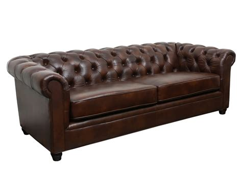 Leather Chesterfield Loveseat by Trent Design Harlem Leather Chesterfield Sofa