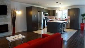 deco salon cuisine aire ouverte With cuisine salon aire ouverte