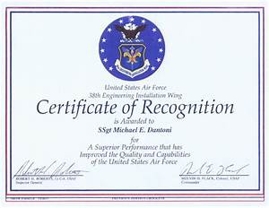 air force certificate of appreciation template With air force certificate of appreciation template