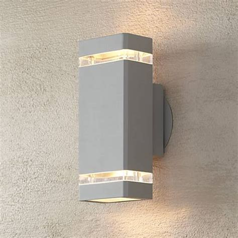 possini rectangular silver up outdoor wall light
