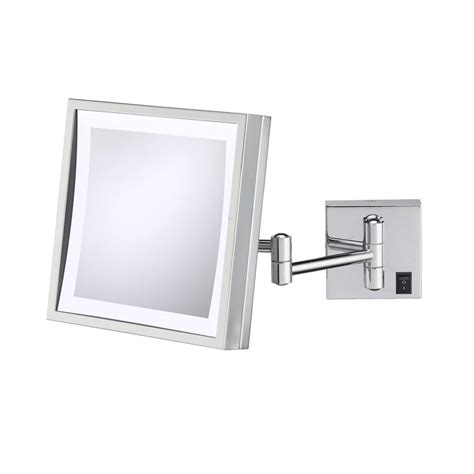 wall mounted makeup mirror square 3x in wall mirrors