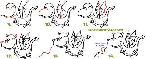 draw  cute kawaii chibi dragon shooting fire