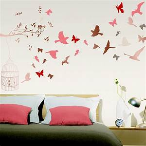 stickers muraux oiseaux With déco chambre bébé pas cher avec stan smith femme rose fleur