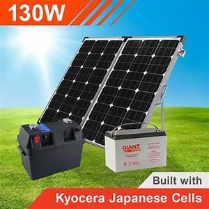 130w Complete Portable Solar Kit With Battery