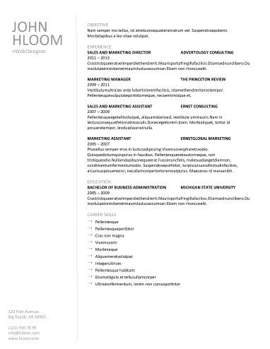 Plain Resume Template by Plain Resume Template Resume Ideas