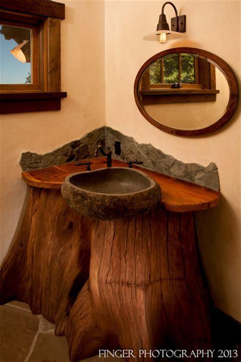Log Cabin Sink   Rustic   Bathroom   San Francisco   by