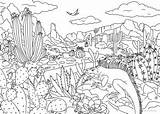 Desert Coloring Favoreads Pages Club Printable Adults sketch template