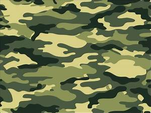 A4 Army Green Camouflage Print Icing Sheet Cake Topper