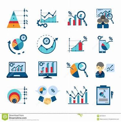Analysis Icone Icons Flat Dati Market Dei