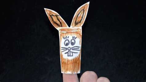 ostern fingerpuppe osterhase basteln youtube