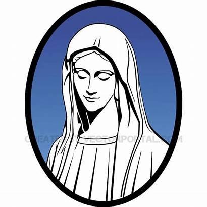 Mary Virgin Silhouette Mother Jesus Vector Getdrawings