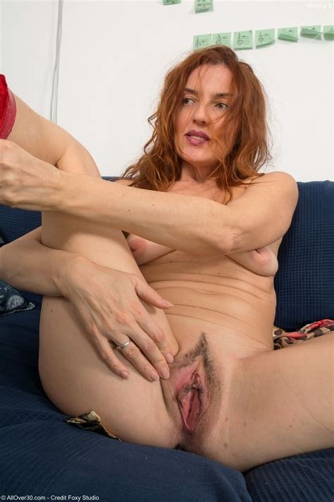 Hot Redhead Vixen Monica S Discards Her Red Lingerie To