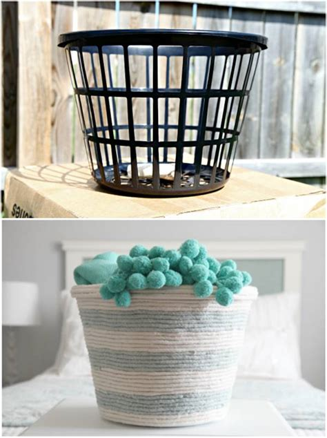 creative ideas diy rope basket   dollar store