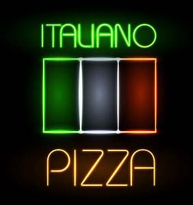 Pizza restaurants neon sign vector material 10 free