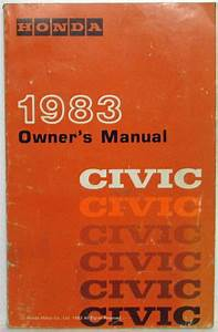 1983 Honda Civic Owners Manual