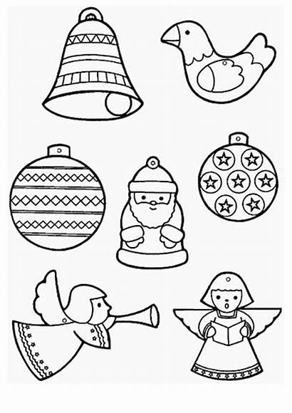 Ornaments Coloring Christmas Pages Ornament Sheets Decorations
