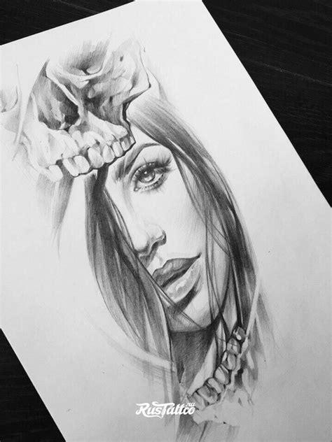 Pin von Xenia Koletsou auf Faces Design   Chicano, Frau gesicht und Tattoo vorlagen