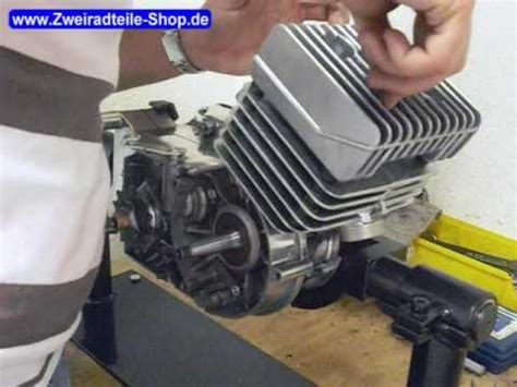 simson s51 motor montage des zylinder am simson motor s51
