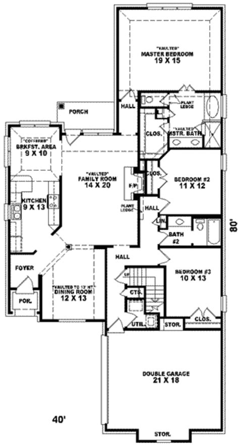 what is the standard height for kitchen cabinets european style house plan 3 beds 2 00 baths 2233 sq ft 2233