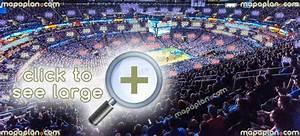 T Mobile Arena Virtual Seating Chart Chesapeake Energy Arena Seat Row Numbers Detailed