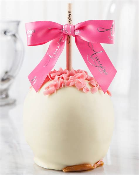 Caramel Pink Apples by White Chocolate Covered Apple Gourmet Apples Delivered