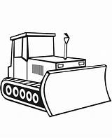Bulldozer Coloring Digger Construction Pages Drawing Simple Sketch Template Craft Moving Parts Tractor Vehicles Clipartmag Sketchite Templates sketch template
