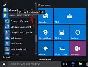 How To Show Or Access Administrative Tools In Windows 10
