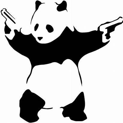 Panda Sticker Ambiance Mur Tester Couleur Une