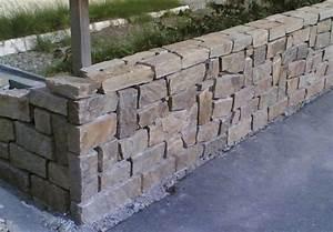 comment habiller un muret en parpaing avec de la pierre With finition dessus de mur exterieur