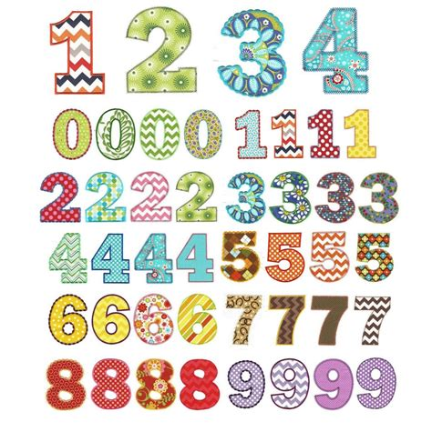 free applique design chunky numbers applique machine embroidery designs by
