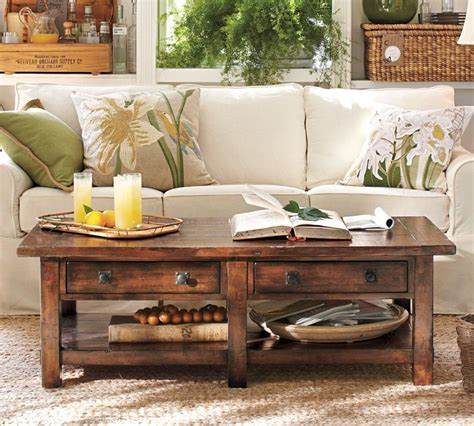 pottery barn coffee tables pottery barn benchwright coffee table shanty 2 chic