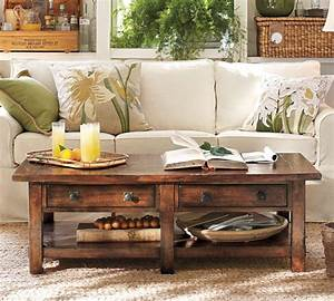 Pottery barn benchwright coffee table shanty 2 chic for Stylish pottery barn benchwright coffee table