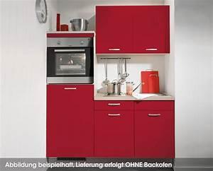 Singlekuche rot leonie online kaufen kuchen quelle for Singleküche mit backofen