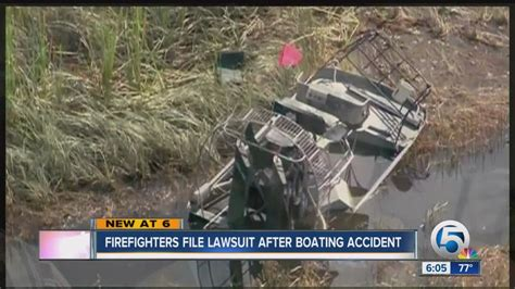 Boating Accident West Palm Beach by Firefighters File Lawsuit After Boating Accident Youtube