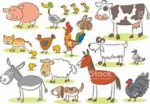 Domestic Animal Kids Drawing stock vector art 531924844 ...
