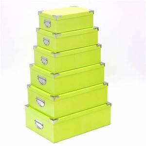 Boite Rangement Photo : set de 6 boites de rangement vert uni ~ Teatrodelosmanantiales.com Idées de Décoration