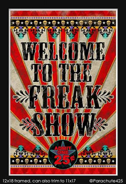 Circus Freak Creepy Carnival Posters Halloween Poster