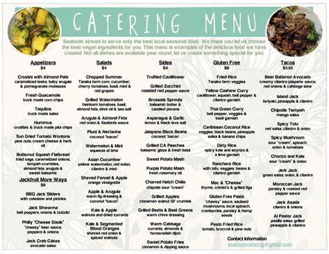 food truck wedding cost catering menu seabirds truck wedding rustic barnyard catering menu catering