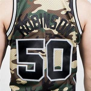 Mitchell Ness San Antonio Spurs 50 David Robinson Camo