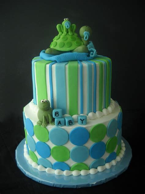Turtles Baby Shower Theme by Violet S Custom Cakes Hoppin Turtle Baby Shower My