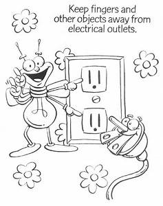 electricity colouring pages bell rehwoldtcom With gallery for gt electricity symbols for kids